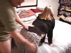Dirty amateur BBW is being screwed hard in her curvy snatch