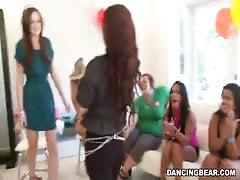 Horny as hell women showing their cock-sucking skills fir stripper