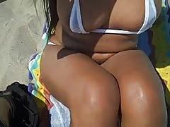 Scantily Clad Jennifer At Public Beach!