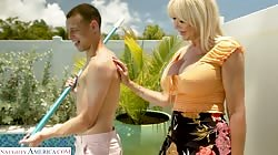 MyFriendsHotMom - Sexy Blonde MILF Victoria Lobov loves young cock