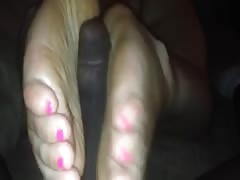 girlfriends footjob