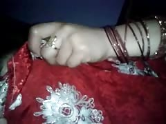 newly married sweet chubby Indian woman