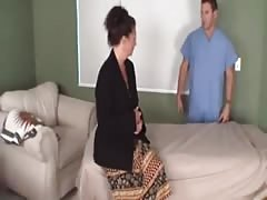 stepmother get massage from his step son