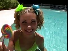 Lollipop teen big cock anal cum