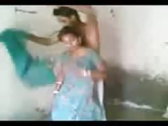Submissive Indian young wife goes on her knees and blows