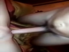 redhead is happy to take a facial