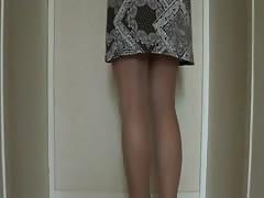 robe collant et talons