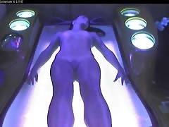 Voyeur nude girl in Ostrava solarium FULL visit Part 006
