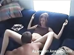 Licking her lovely wet vagina and then fucking her hole hard