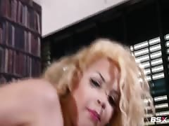 Sex in the library with a big-butt Babe Station X blonde