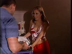 Guy gets BJ and drills Jennifer Luv in pawn shop