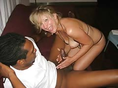 Sexy Queen of Spades Having Fun with her Black Lovers