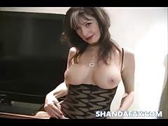 Pegged in Stockings!! Shanda Fay!
